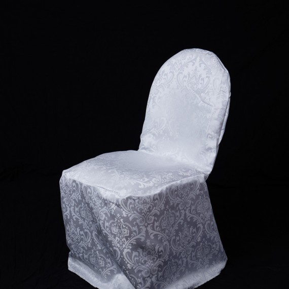 Damask Banquet Chair Cover