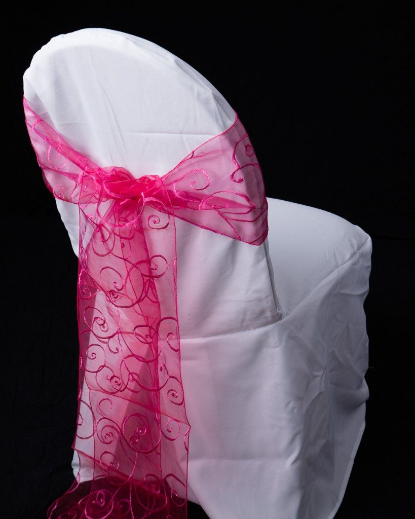 Organza Swirl Chair Sash