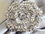 Rose Rhinestone Napkin Ring
