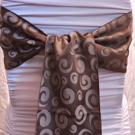 Chocolate Sash With Swirl