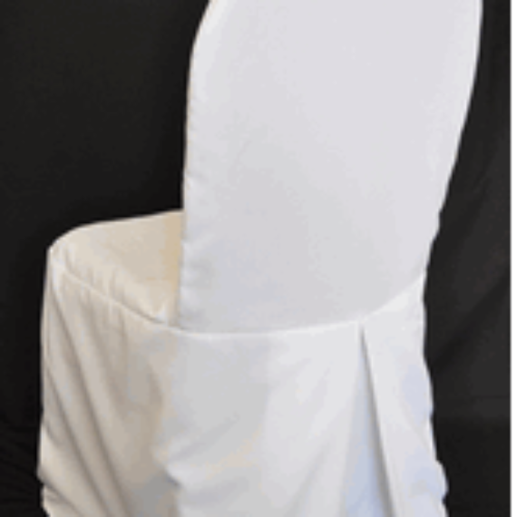 White or Ivory Banquet Chair Covers With Pleat